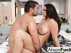 Amazing rough fuck yon Alison Tyler and a hung spanish stud