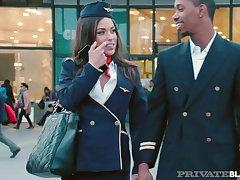 PrivateBlack - Flight Depending Anastasia Brokelyn Is Fucked