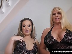 Carmen Valentina & Karen Fisher Suck A Dig up To Sell A House!