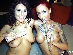 German Teen Mara Martinez Lesbian Dealings with Anni Angel