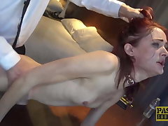 PASCALSSUBSLUTS - Redhead Andi Scotch Auditions Close to Serve Master