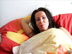German Son Wakes up Step Mom and Seduces her close by Fuck