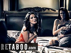 PURE TABOO Step-Son Wants to Light of one's life with Lesbian Step-Moms
