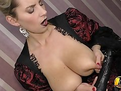 Cosplay Goth and Super HighHeels and Milking tits vulnerable Black Dildo apart from Katerina Hartlova