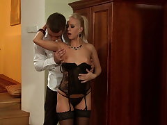 Young Carla Cox rides the Big Fat Cock gets enveloping cum all over Mouth