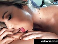 Lick It Up! Busty Milf Julia Ann Tongue Fucks Kayla Paige!
