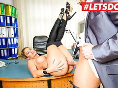 BUMS BUERO - German MILF Izzy Mendosa Gets A Rough Fuck Being done