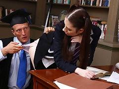Schoolgirl loves anal sex near her teacher