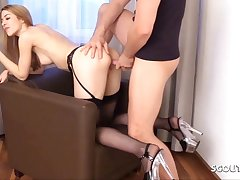 Tiny German Sister MaryHaze caught with an increment of fucked by Stepbrothers