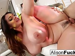 Hard shacking up with stacked Alison Tyler and a big cock