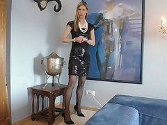 Elegant Curator! What does she pretend to underneath?