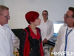 Redhead Sunny Sin gets treated apart from big dicks