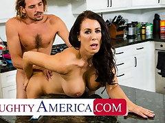 Naughty America - Hot Mom Reagan Foxx fucks and sucks