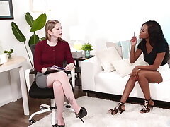 Busty Interracial Lesbians Bunny Colby and Jezabel Vessir