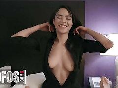Sexy Latina Maya Bijou Gets Caught Sneaking Around In A Hotel
