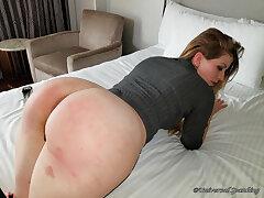 Sassy Blonde Spanked Bare Ass!