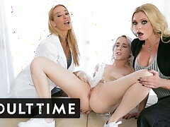 Virgin Squirts Induce Blonde Triplet - Grown-up TIME