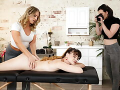 She Ate My Pussy On the Massage Table (Caught On Camera!)