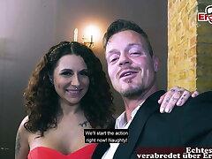 Verifiable ONLINE SEXDATE - German couple on romantic date – big tits