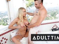 ADULT TIME - Blonde MILF Katie Morgan Lets Plumber Pipe Her