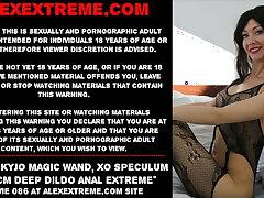 Hotkinkyjo magic wand, xo speculum & 69cm deep dildo anal