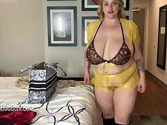 Huge boobs go-go model