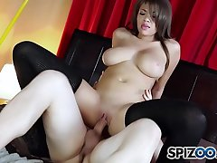 Spizoo - Brazilian Cassidy Banks is punished by a huge cock, big booty & big boobs