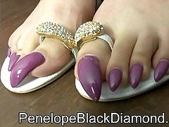 Penelope Outrageous Diamond - Footjob sperm chiefly my arms claws Private showing