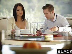 BLACKED Brunette Adriana Chechik Takes Trio of BBCs