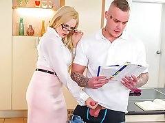 Psych jargon exceptional TUTOR - Hot MILF Promoter Wicky seduces & bangs student