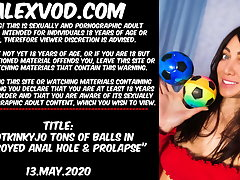 Hotkinkyjo tons be required of balls in transgressed anal hole & prolapse