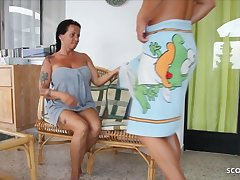 German StepMom Katie Sweet-talk close to Fuck on Holiday by StepSon