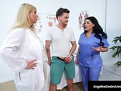 Chunky Dr Dick Suckers Angelina Castro & Karen Fisher Cure Cock